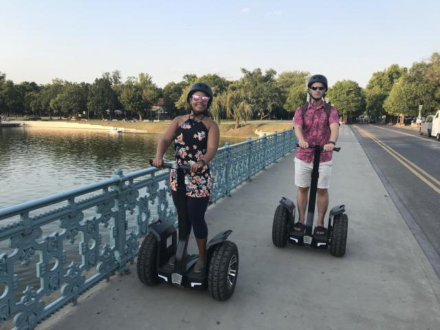 Heroe's Square Segway tour - In the Budapest City Park